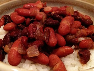 Red Beans & Rice do my little Cajun soul good.